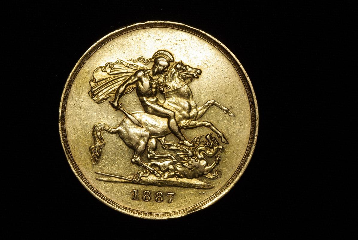 1887 - 5 Pounds. Reino Unido. 1887  IGP7762