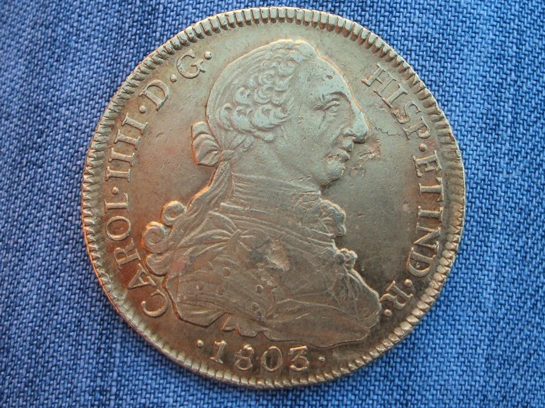 8 Escudos 1803 FJ. Carlos IV con busto de Carlos III. Santiago. 1803_2
