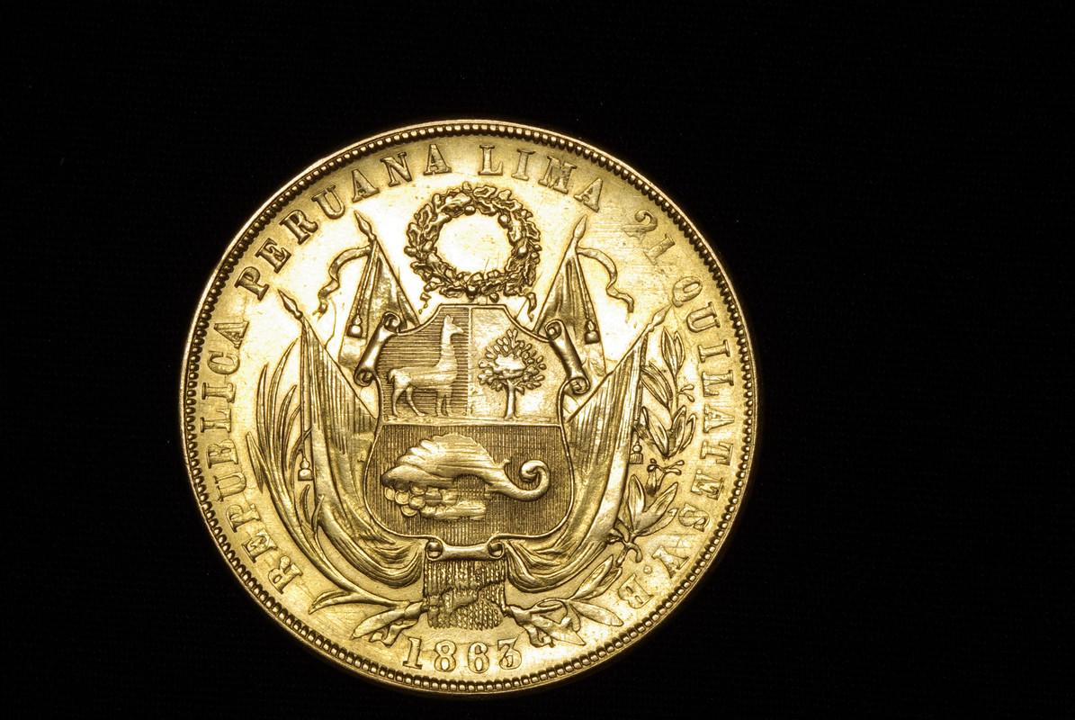 8 Escudos. República del Peru. 1863. Lima Imagen_201