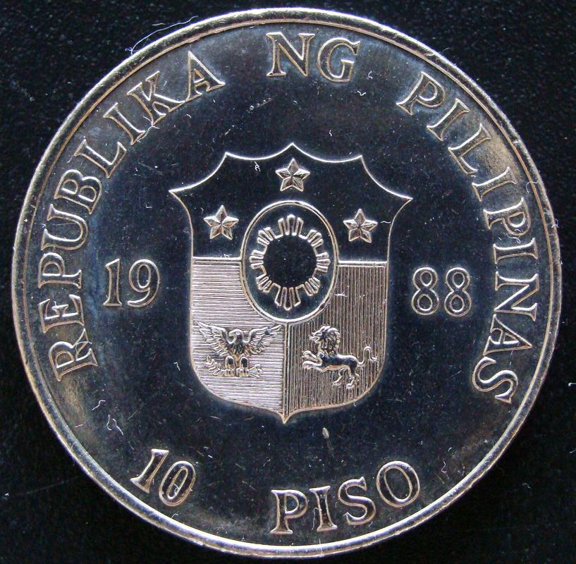 10 Pesos. Filipinas (1988) Conmemorativa de la Revolución del Poder del Pueblo FIL._10_Pesos_Revoluci_n_1986_-_anv