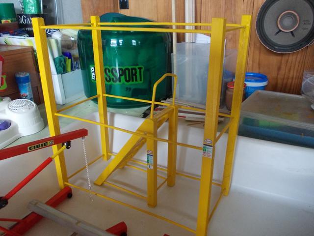 Diorama: Taller mecánico clásico, escala 1/10 DSCN6316
