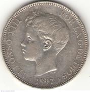 1 Peso de Filipinas de Alfonso XIII - 1897 5-pesetas-1897_30989_4242447281133d_L