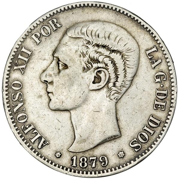 5 pesetas 1879 buena y mala 3495a