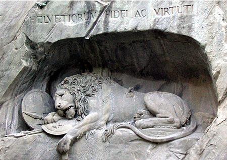 El león herido de la montaña Lionmonumentlucerne