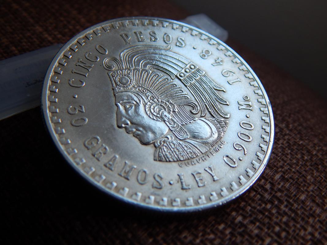 5 pesos Mexico 1948 DSCN2749