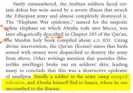 Variole Arabique autre preuve Historique et Scientifique Now