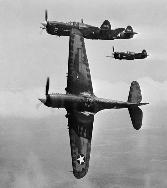 Kako u stvarnosti izgledaju avioni Curtiss_P_40_Fs_near_Moore_AAF_1943
