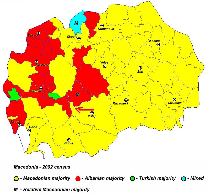 Pamja shqiptare e Maqedonise, dje, sot dhe neser Harta_5