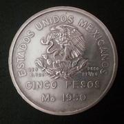 5 pesos Méjico 1950  Inaguración del ferrocarril del sureste 20180506_174708