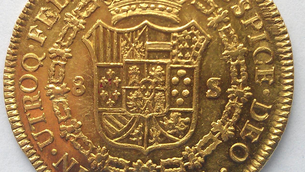 """Onza. 8 escudos Fernando VII 1810 SANTIAGO  """"Variante ceca"""" IMAG1057"""