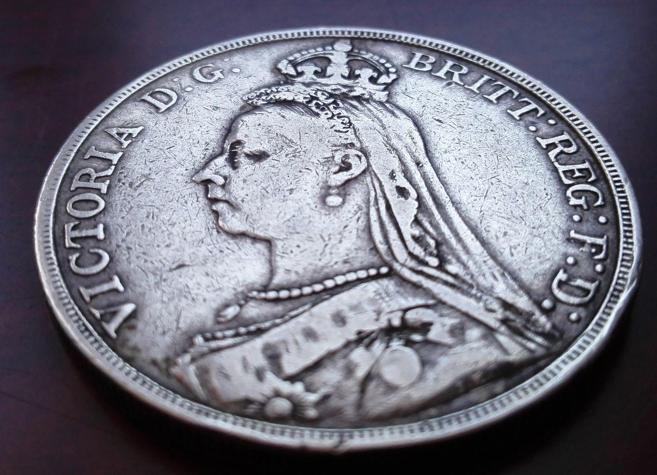 1 corona 1889, Reino Unido  1_corona_1889_2