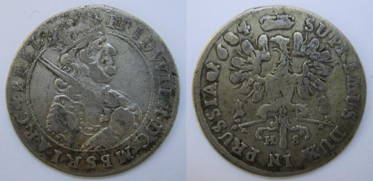 18 groschen 1684. Brandemburgo. Prusia. Friedrich Wilhelm I 18_groshen_Brandenburgo_1684