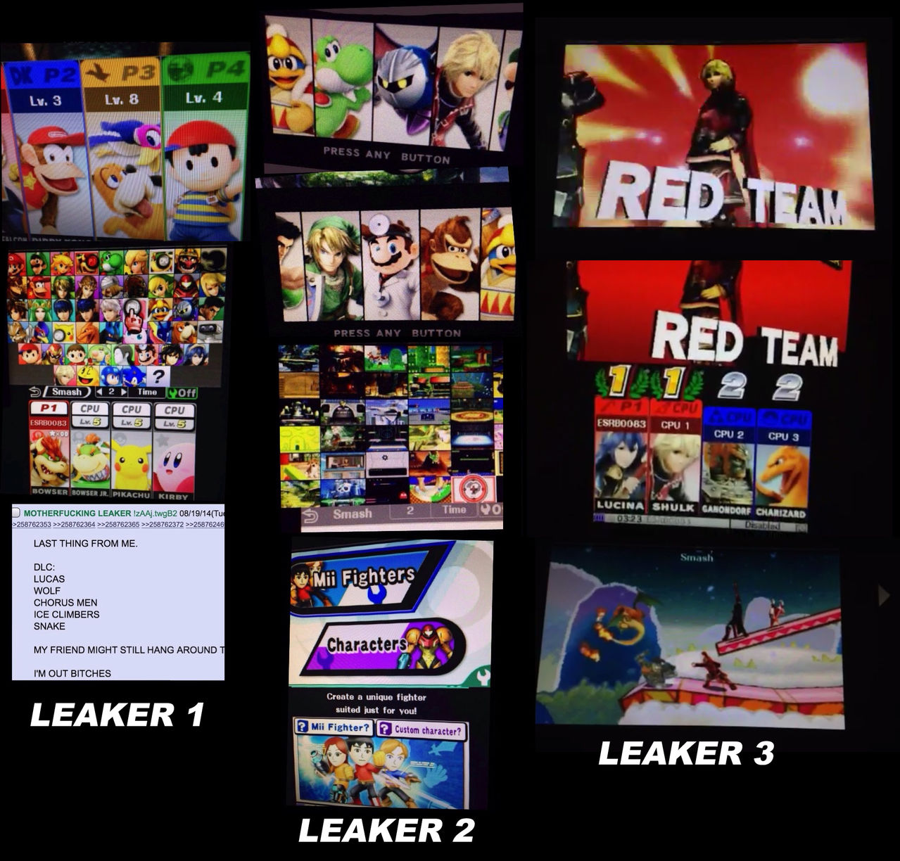 Se filtra gran parte del plantel de Super Smash Bros. Leakers