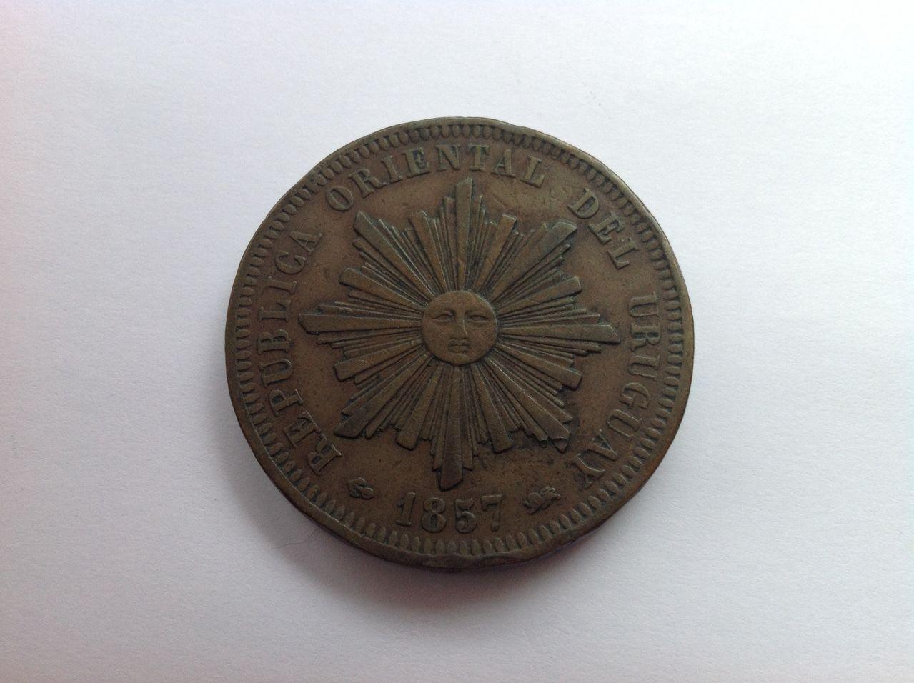 40 centesimos de real 1857 Uruguay Image