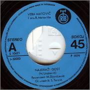 Vera Matovic - Diskografija 1979_za