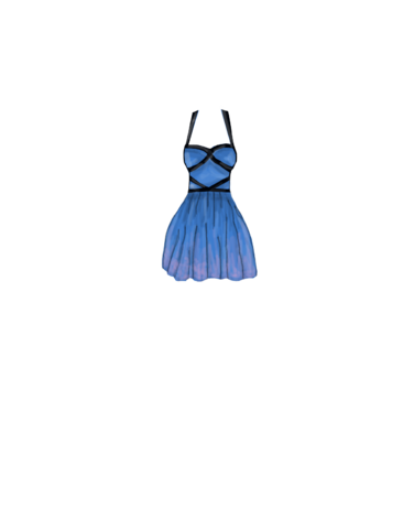 Fashion Blue_crossed_dress1