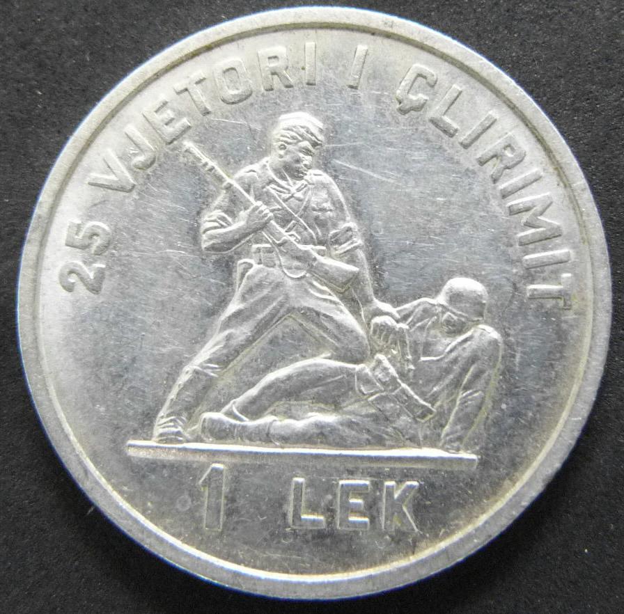 1 Lek. Albania (1969) ALB_1_Lek_rev