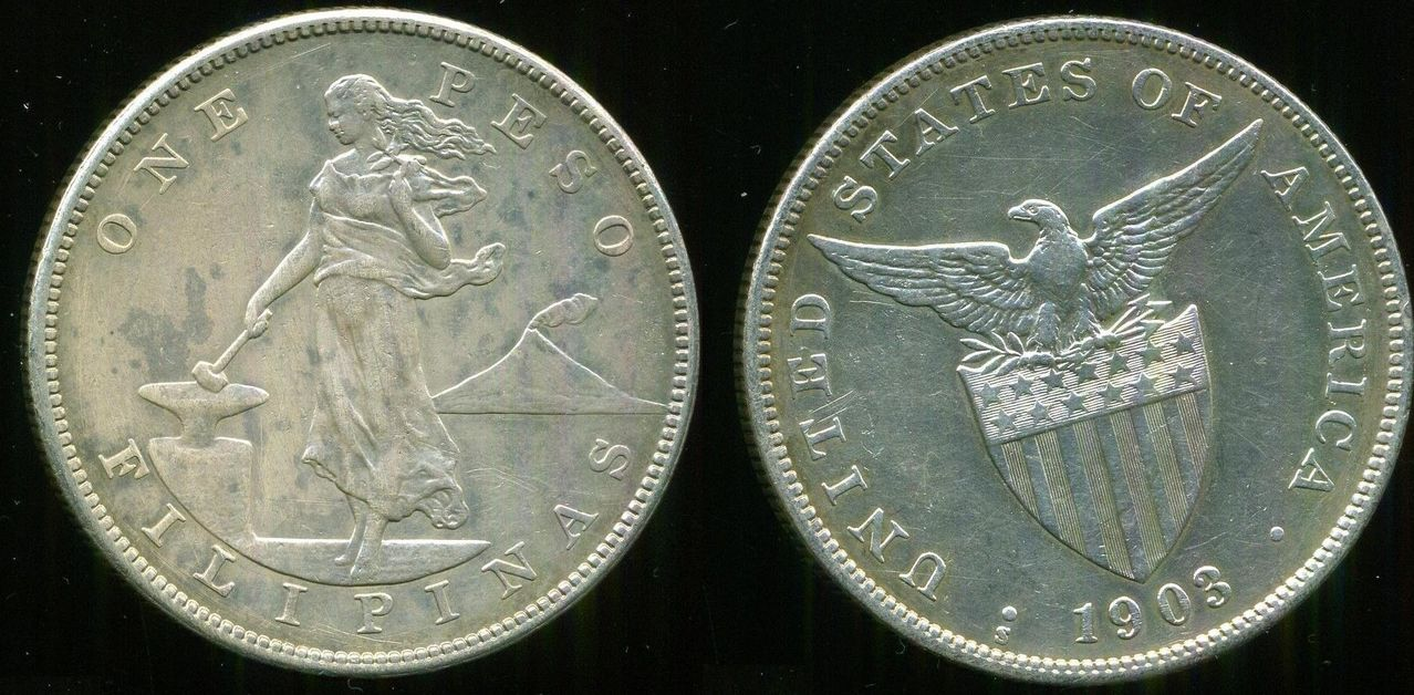 filipinas - 1 Peso 1903 Filipinas. San Francisco. La Guerra Filipino-estadounidense 00000000000000000000000000000000_1_peso_1903