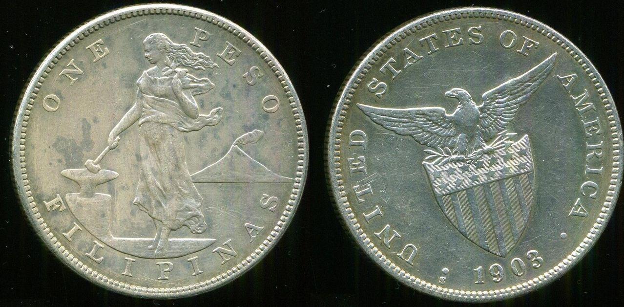1 Peso 1903 Filipinas. San Francisco. La Guerra Filipino-estadounidense 00000000000000000000000000000000_1_peso_1903