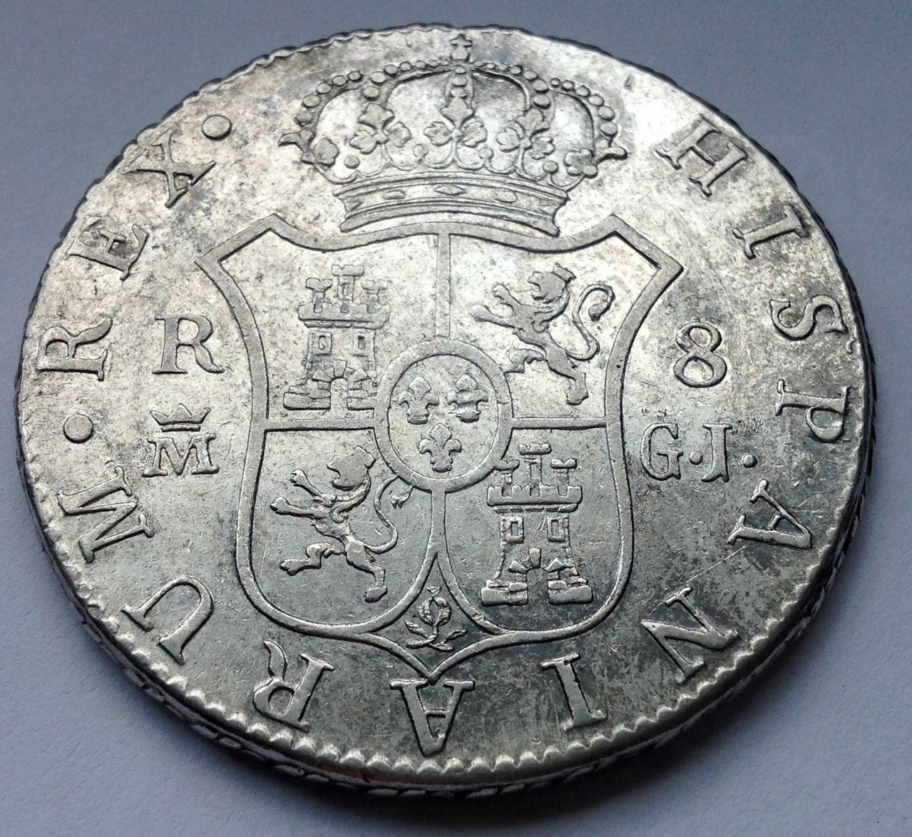8 reales 1815 Fernando VII Madrid Image
