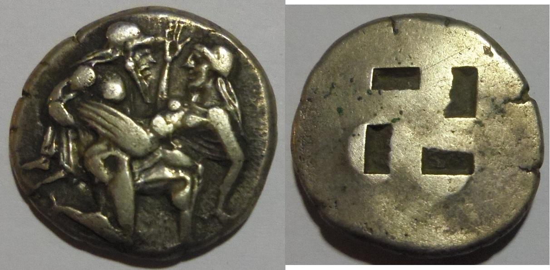 Tracia.Thasos.Didracma eubeo-ático.460-430 A.C. IMGP3100