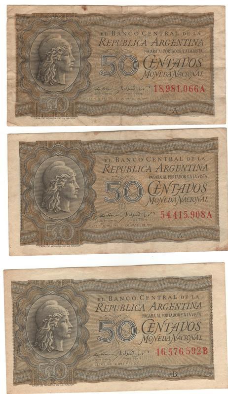 1 Peso Argentina, 1947 50_centavos_Moneda_Nacional