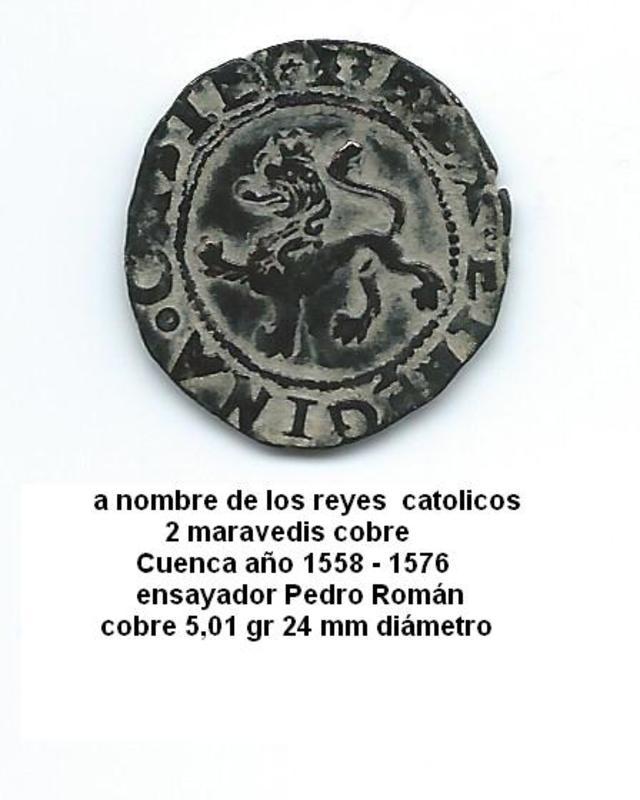 2 Maravedís a nombre de los Reyes Católicos. Image