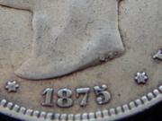 5 pesetas 1875 D.E.  M.   18* 75* RSCN2373