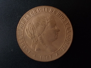1 Céntimo de Escudo 1867. Isabel II. Segovia. Sin OM DSCN1012