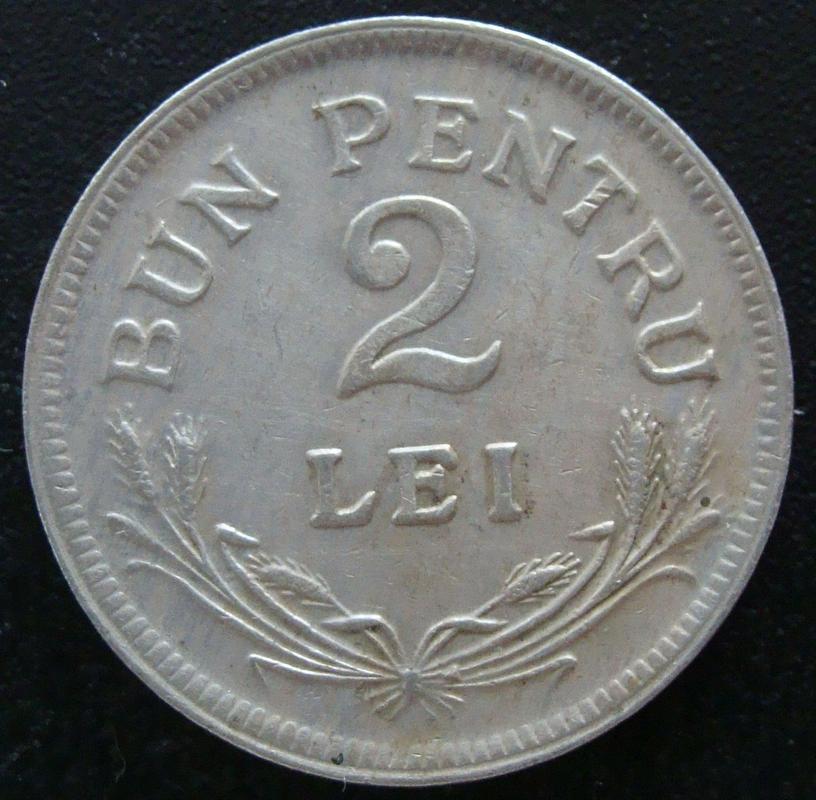 2 Lei. Rumania (1924) RUM._2_Lei_1924_-_rev