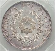 1 PESO 1889 - PARAGUAY ( LA MONEDA PARAGUAYA DE LOS DOS ESCUDOS ) Image