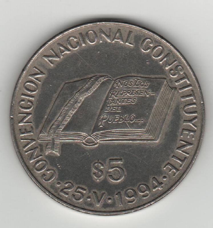 5 Pesos. Argentina. 1994 REVERSO