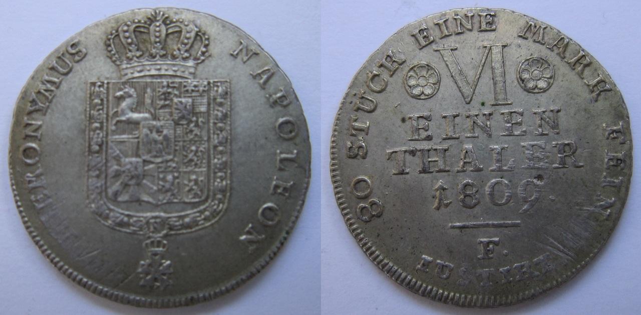1/6 Thaler (Hieronymus Napoleon). Westfalia. 1809 1_6_Thaler_Westfalia_1809