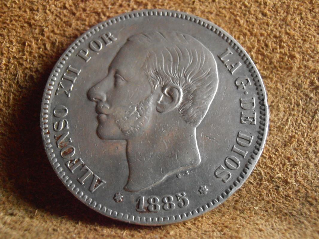 5 Pesetas 1885. (*18-85). Alfonso XII P3310008