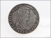8 REALES FERNANDO VII ,1818, SEVILLA, C - J 57_60