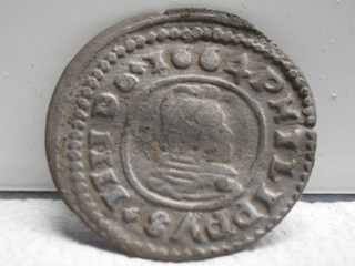 16 maravedís 1664. Felipe IV, Trujillo SAM_3462