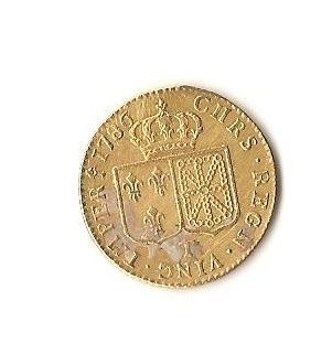 PRECIOSA MONEDA de oro de Luis XVI 1786.Muy bonita. Imagen_148