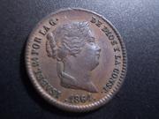 5 Céntimos de Real 1864. Isabel II. Segovia DSCN1159