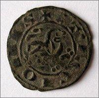 Dinero prieto de Alfonso X. (1252-1284). Sin marca de ceca.  2_Dinero_Prieto_Alfonso_X_copia