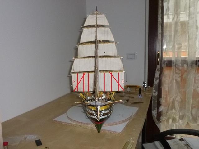 vespucci - Il mio primo cantiere navale, Amerigo Vespucci, scala 1/100 DeA - Pagina 17 Dsc
