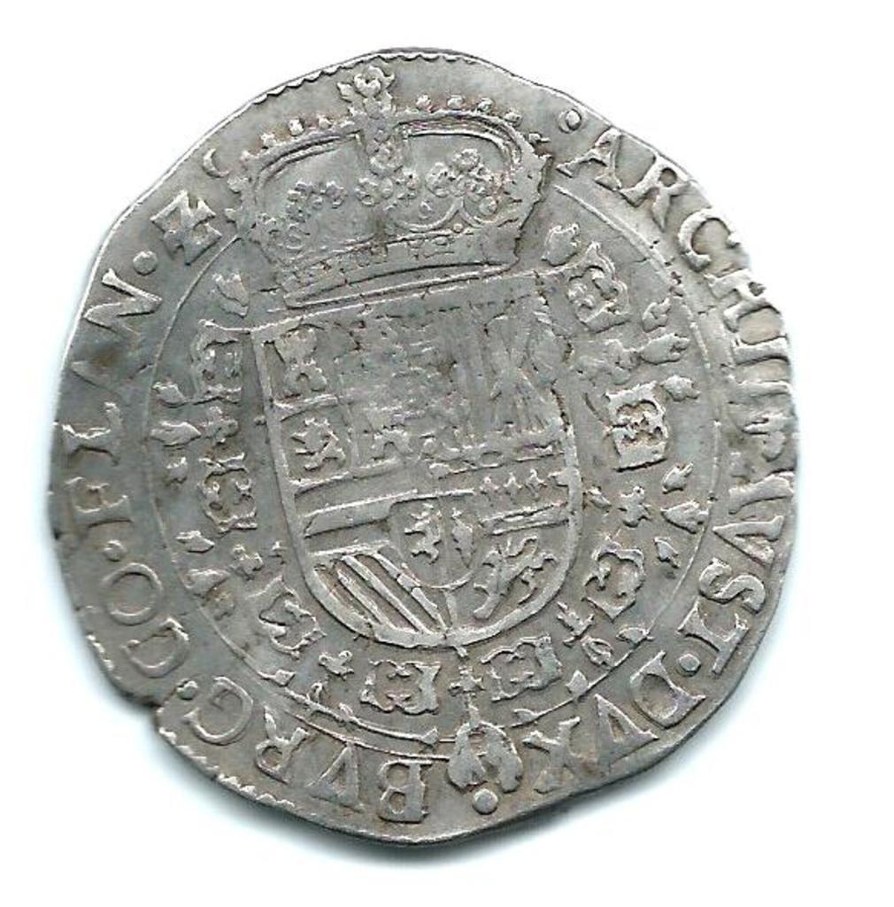 patagón 1674. Carlos II. Brujas Image