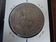 5 Pesetas de 1.880 , Perú DSCN1417