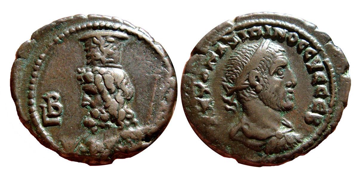 Tetradracma de Maximino I. L B - Serapis. Alexandria 258