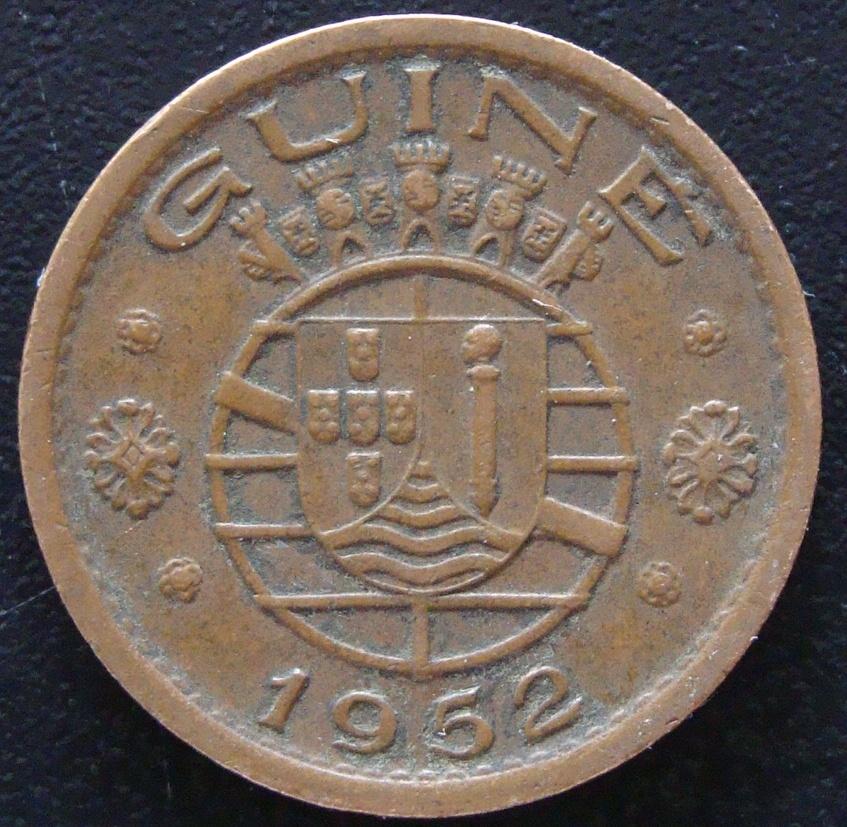 50 Centavos de Escudo. Guinea Portuguesa (1952) GNB_50_Centavos_escudo_1952_rev