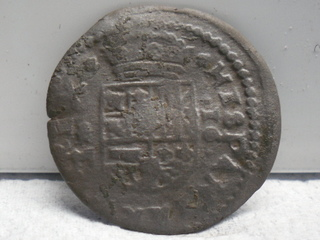 16 maravedís 1664. Felipe IV, Trujillo SAM_3466