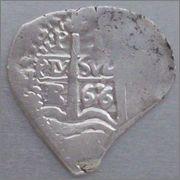1 real 1666. Carlos II. Potosí. 22mm