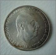 100 pesetas 1966*19-69 (palo curvo) Image