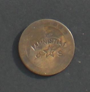 10 Céntimos 1870. Gobierno Provisional. Resello Amnistia J S 10_cts_1870_resello_amnistia_J_S
