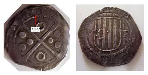 5 Reales 1640/1. Felipe IV (Guerra de los segadores). Barcelona. Las medias libras catalanas. Image