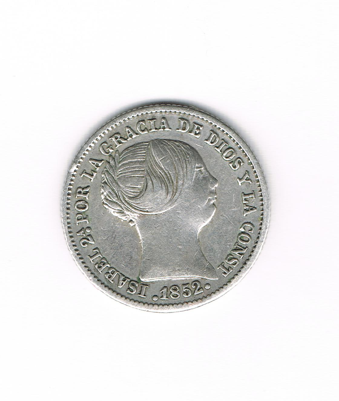 1 Real 1852. Isabel II - Madrid. 1_Real_Plata_Isabel_II_1852_Madrid